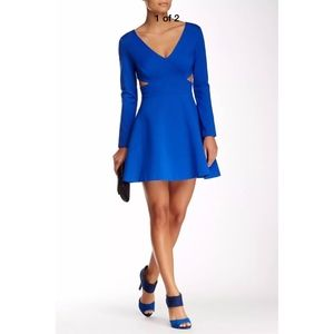NEW Halston Heritage Long Sleeve Mini Dress in 10